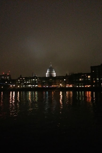 St Paul's Cathedral from the river