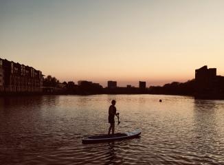 paddle-boarding